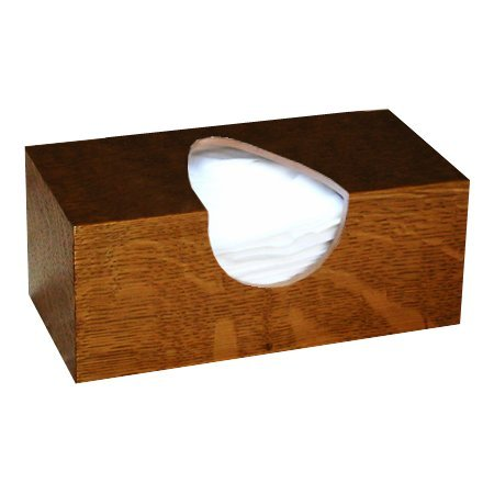 The Tissue Box Cover Store Wooden Tissue Box Cover In White Oak Wood Veneer Rectangular Regular Size. (Puffs Opening With Bottom)