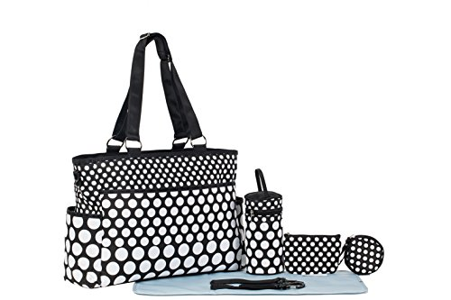 SoHo Collection, Classic Black & White Dot 7 pieces Diaper T