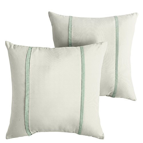 Mozaic AMPS114704 Double Small Flange Indoor/Outdoor Square Pillows (Set of 2), 16