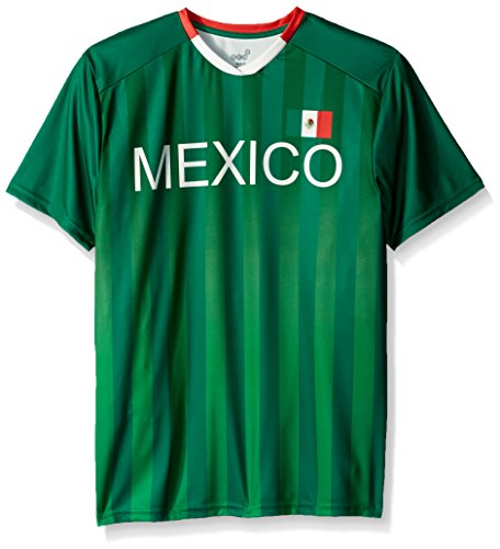Football Sleeve Jersey Short (OuterStuff World Cup Soccer Mexico Mens -Federation Jersey Short sleeve Tee, Dark Green, Medium)