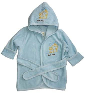 Funkoos Bath Time Organic Hooded Bathrobe for Babies, Baby Boy, 0-9 Months