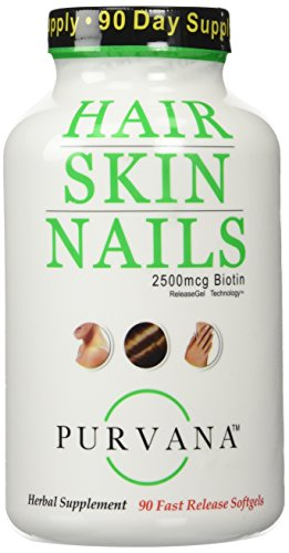 Purvana Hair Nail and Skin 90 Count New Convenient Size