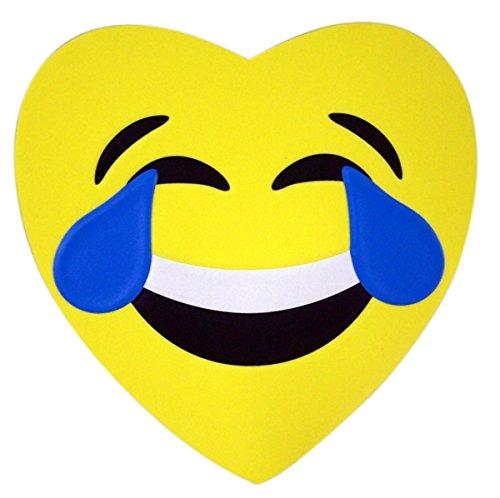 Crying Laughing Emoji Emojicon Foam Heart Valentines Day Box with Gummy Candy, 3.17 oz -