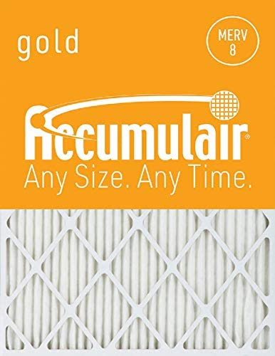 Accumulair Gold 20x23x1 (Actual Size) MERV 8 Air Filter/Furnace Filter (2 Pack)