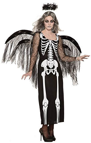 Forum Novelties Unisex Child Angel of Death Costume, Black Standard ()