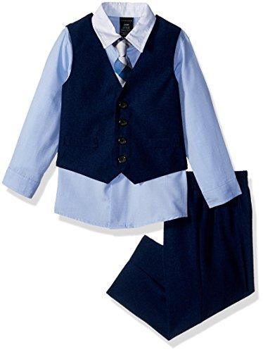 (Sean John Baby Boys Four Piece Vest Set, Academy Blue,)