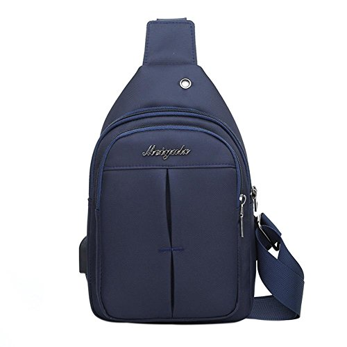 Widewing Jack Pack Blue Shoulder Sling Bag Chest Crossbody Nylon Earphone Men HOqarH