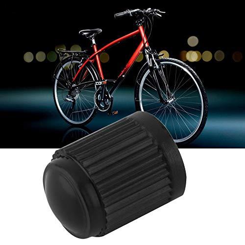 Moto Bicicletta Camion Migvela Tappi valvole universali in plastica Nera durevoli Leggeri e compatti per Pneumatici per Auto