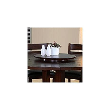 Superior Wood Very Dark Espresso Lazy Susan Turntable Tray 22u0026quot;
