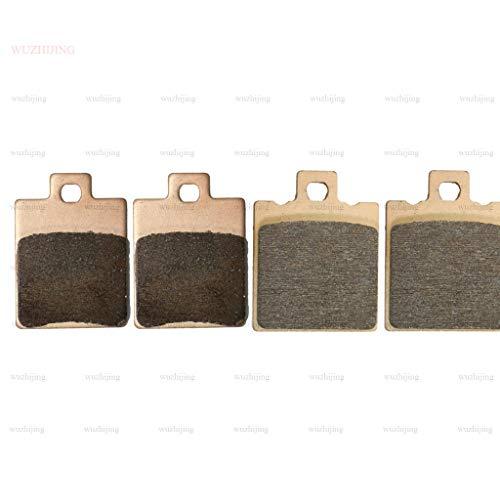 Copper Sintered Front & Rear Brake Shoe Pads Set fit Benelli 491 50 SBK (01-04) GILERA Runner SP 50 disc (98-12) Stalker 50 (97-06)