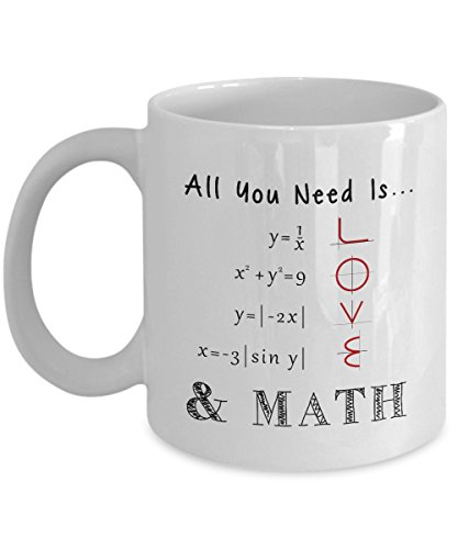 All You Need Is Love - 11oz White Ceramic Coffee Mug - Funny Math Gifts - Mathematics Gifts - Engineer Present