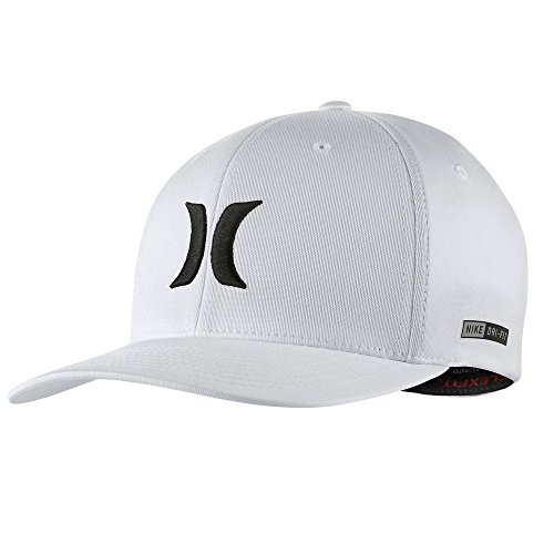 Hurley - Mens Dri-Fit One And Only 2.0 Flex Fit Hat, Size: Large/X-Large, Color: White (Embroidered Hurley Hat)