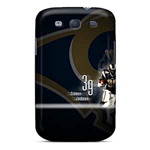 Samsung Galaxy S3 Xhu3891JXJd Unique Design Realistic St. Louis Rams Image Shockproof Cell-phone Hard Cover -MarieFrancePitre