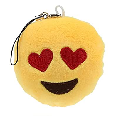 Tenworld Amusing Toy Gift Emoji Emoticon Key Chain Pendant Bag Accessory Hot (A)