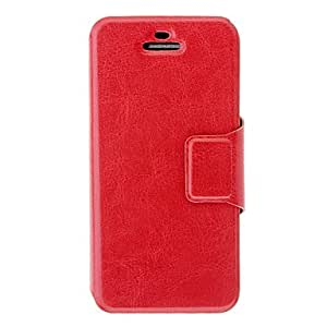 Crazy Horse Leather PU Full Body Case with Card Slot and Stand for iPhone 5C (Assorted Colors) --- COLOR:White