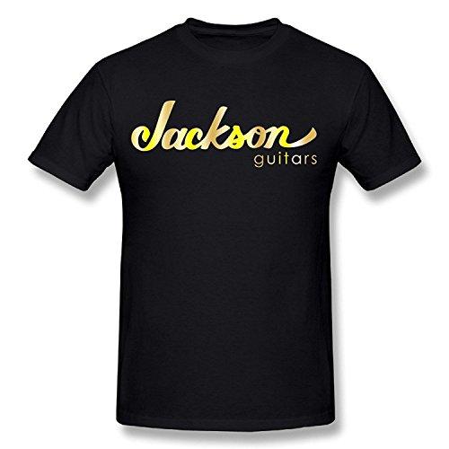 Top-Tshirt Men's Jackson Guitars Logo Gold Style Logo - Bradley Style Cooper