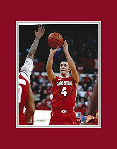 Ohio Jumper (Aaron Craft Autographed Ohio State Buckeyes 8x10 Photograph with Mat - Pure Jumper - Certified Authentic - Autographed)