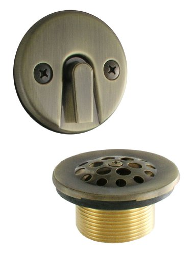 LDR 552 5100AB Waste and Overflow Kit with Trip Lever and Strainer, Antique Brass