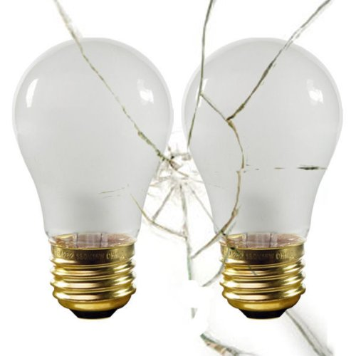 Halco 6146 - Shatter Resistant - 40 Watt - A15-130 Volt - Appliance Light Bulb - 2 Pack ()