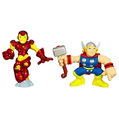 Marvel Super Hero Squad ? Iron Man and Thor: Toys & Games