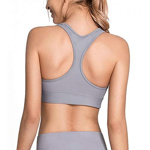 Colores Fitness Correr Recolectado Para De opción Yoga Antideslizante Estereotipo Deportivo Sujetador Gray Prueba Mujer A 3 Golpes X0zxwZ5q