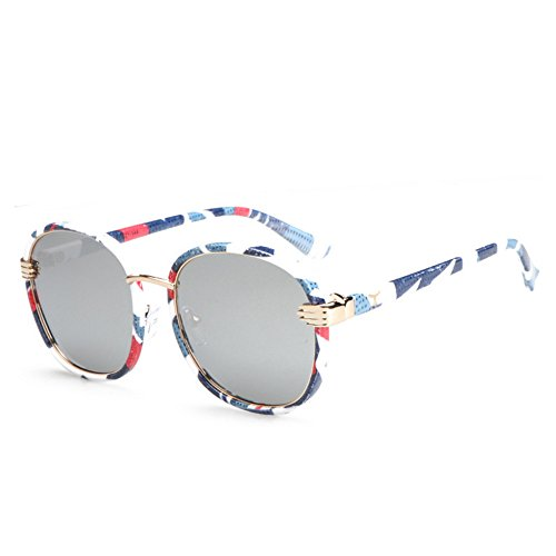 protection hommes ronde de GAOLIXIA soleil de polarisées lunettes Blue métal pare haute qualité Mode soleil soleil uv400 de lunettes femmes et classiques R40qwxdw6