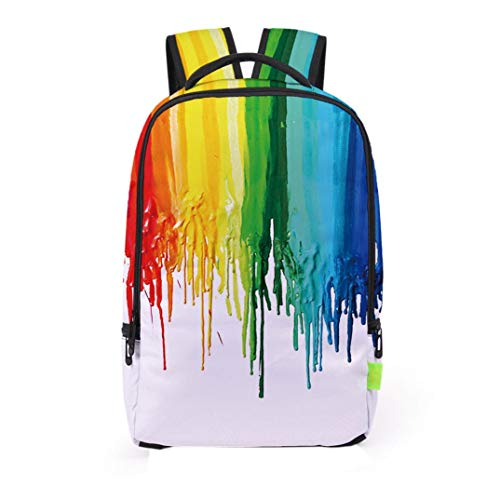 Kanpola Women Men 3D Galaxy Travel Satchel Backpack Rucksack Shoulder Bookbag School Bag Multicolour Multicolour1