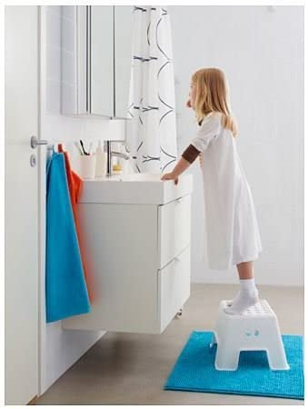 Blanko 44x35x26 cm Ikea Taburete Escal/ón