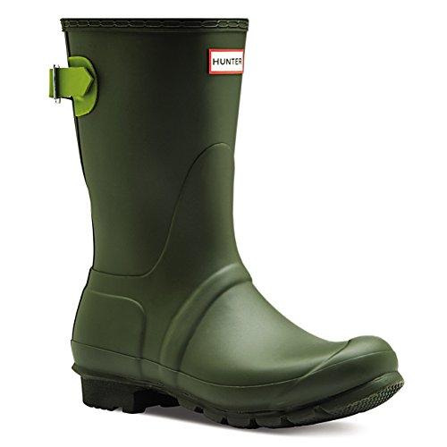 Hunter Womens Original Adjustable Back Short Snow Waterproof Rain Boots - Dark Olive/Kelp - 5 by Hunter (Image #1)