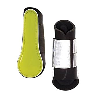 Harry Hall HI Viz amalgamiento botas, unisex, color Amarillo - amarillo fluorescente, tamaño doble