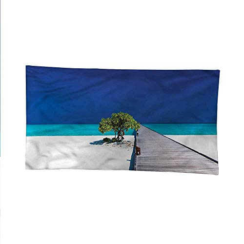 (Beachocean tapestrylarge tapestryWooden Platform Pier Tree 60W x 51L Inch)