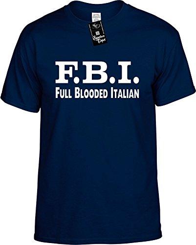 Signature Depot Mens Funny T-Shirt Size M (F.B.I. (Full Blooded Italian) Unisex -
