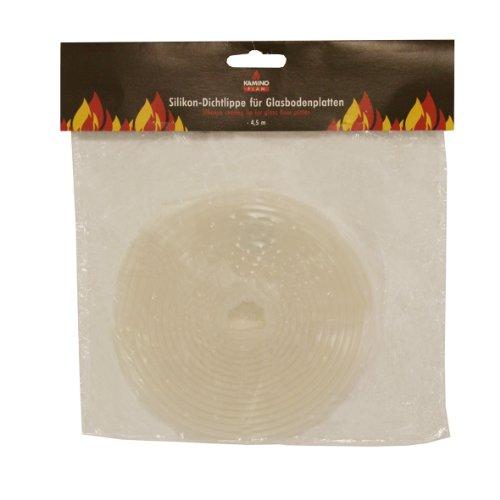 Kamino-Flam Silikondichtlippe 338110 für Glasbodenplatten, die Dichtung verhindert Schmutzbildung unter der Bodenplatte,  Abdichtband für nahezu alle verschiedenen Formen, selbstklebende Schmutzdichtung, jederzeit nachrüstbare Dichtungsschnur, die Länge der Schmutzabsicherung beträgt ca. 4,5 m