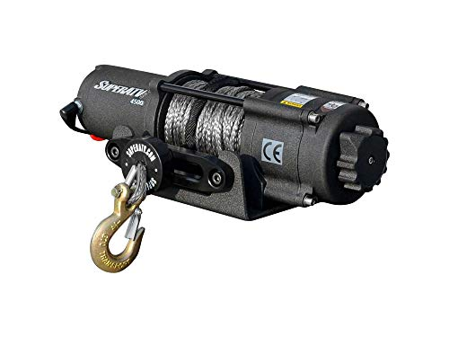 SuperATV 4500 Lb. Black Ops ATV Winch - With Wireless Remote and 50' Synthetic Rope