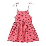 Princess Dress Toddler,Toddler Kids Baby Girl Print Beachwear Princess Strap Dress Sundress Summer,Kids' Costumes,Yellow,3-4T
