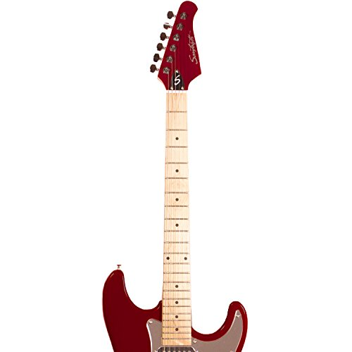 Sawtooth ST-ES-FBRC-BEG ES Series ST Style Electric Guitar Beginner's Pack, Fire Brick Red with Chrome Pickguard - Image 4