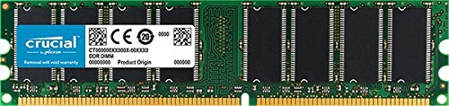 Crucial 512MB Single DDR 400MHz (PC3200) CL3 Unbuffered UDIMM 184-Pin Desktop Memory CT6464Z40B