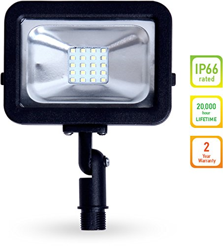 LLT LED COMPACT Floodlight with Arm SMD Outdoor Landscape Security Waterproof 10W 5000K (Daylight) (Outdoor Led)