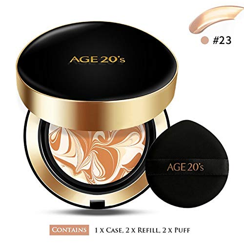 AGE 20  S SIGNATURE ESSENCE COVER PACT INTENSE COVER + REFILL +AIR PUFF SPF50+ / PA++++ (23 MEDIUM GEIGE)