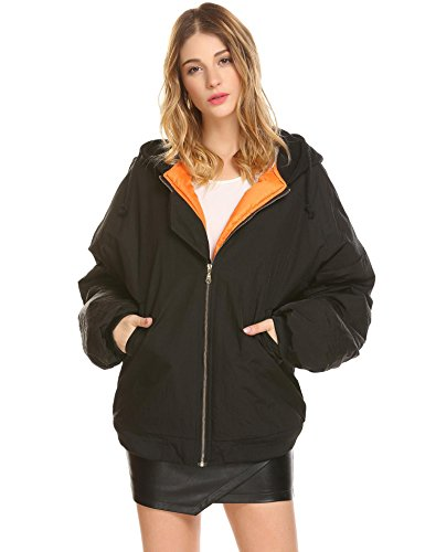 Womens Down Bomber Jacket - 7