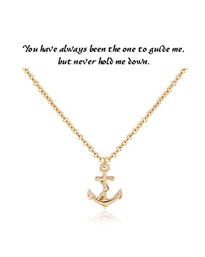 Daycindy Anchor Necklaces for Women Best Friend Adjustable Chain ()