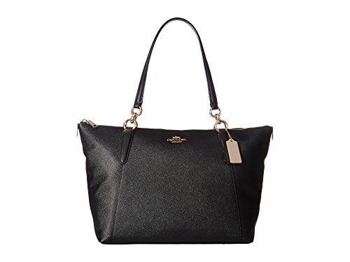 COACH Women's Crossgrain Ava Tote Im/Black One Size