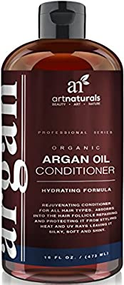 Art Naturals® Argan Oil Daily Hair Conditioner 16 Oz - Sulfate Free - Best Treatment for Damaged & Dry Hair - Made with Organic Ingredients & Keratin - For All Hair Types - Safe for Color Treated Hair