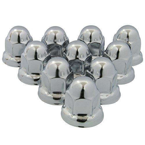 10 Stainless Steel Pro Cover (Roadpro RP-33SS10 33mm Polished Stainless Steel Flanged Lug Nut Cover, (Pack of 10))