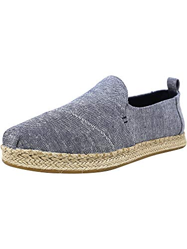 (TOMS Women's Deconstructed Alpargata Rope Navy Chambray 8 B US)