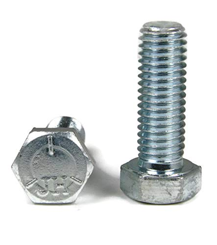 Hex Cap Screws Grade 5 Zinc - 7/16''-20 x 3/4'' FT - Packedge Quantity 100 - Quality Assurance from JumpingBolt