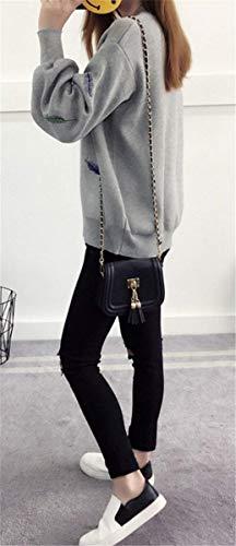 Mode Marca Maglieria Lantern Elegante Di Moda Pullover Sleeve Cappotto Autunno Maglia Donna Ricamo A Elasticit jAc3RL45q