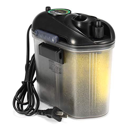 5.5W 150L / H peces de acuario tanque externo Caída en los medios de comunicación del frasco filtro suministrado