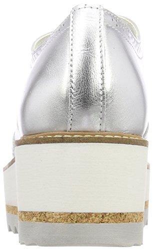 Bullboxer 993001e5l Mujer para Silver Slvr Plateado Cordones Zapatos Brogue de rpxq1ard