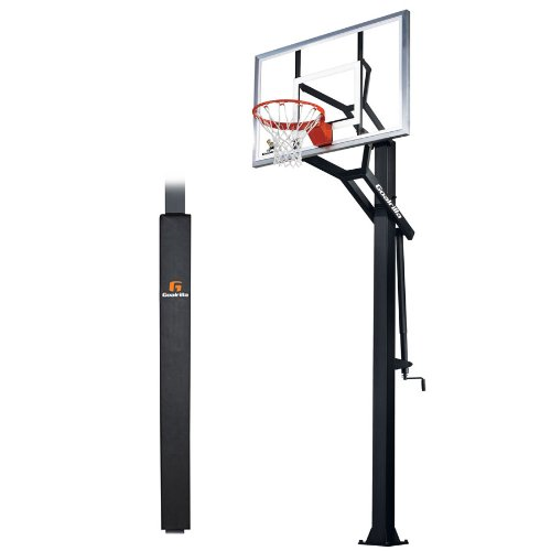 Goalrilla GS54-SPP In-Ground Basketball System package with Pole Pad, Adjustable 54